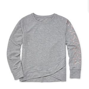 Long sleeve gray stars